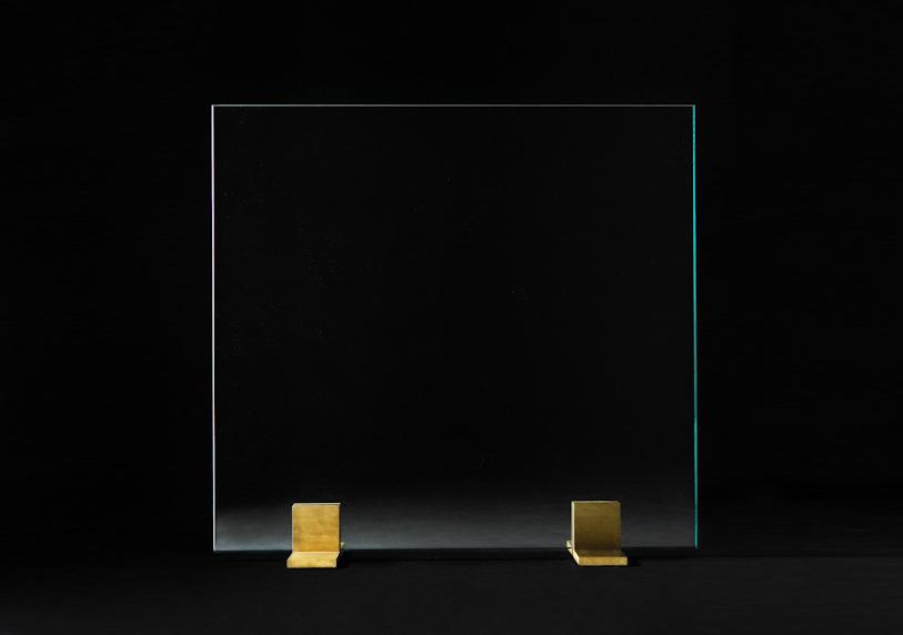 Glass Screen Satin Brass finish